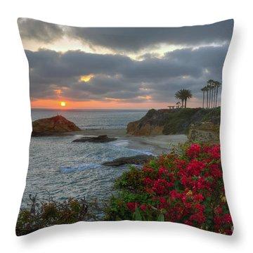 Treasure Island Beach Shoreline Throw Pillow