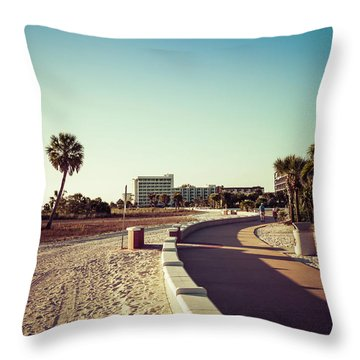 Throw Pillow featuring the photograph Treasure Island Beach Trail by Joel Witmeyer