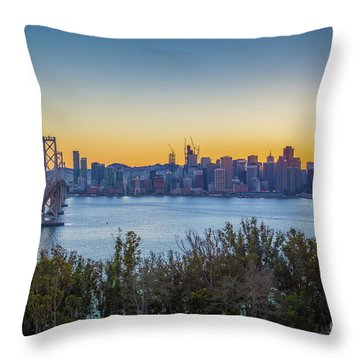 Treasure Island Sunset Throw Pillow by JR Photography