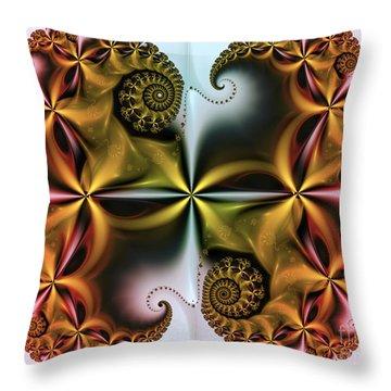 Throw Pillow featuring the digital art Treasure by Karin Kuhlmann