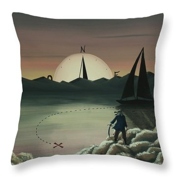 Treasure Path Throw Pillow