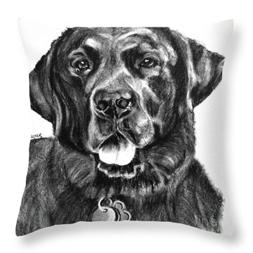 Treasured Lab Throw Pillow
