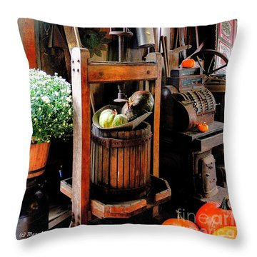Treasures Of  Fall Throw Pillow by MaryLee Parker