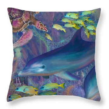 Treasures Of The Caribbean Throw Pillow by Julianne Ososke