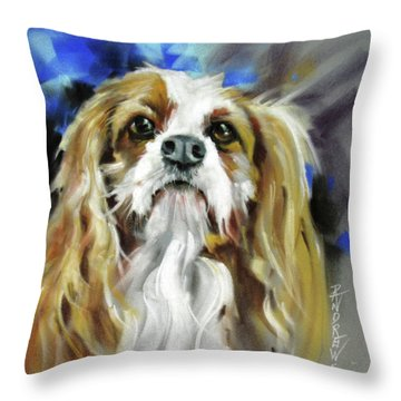 Treat Expectations Throw Pillow by Rae Andrews
