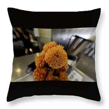 Treats At The Ice Cream Parlor Throw Pillow