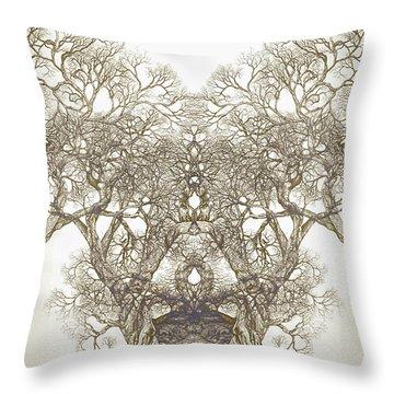 Tree 20 Hybrid 1 Throw Pillow