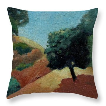 Throw Pillow featuring the painting Tree Alone by Gary Coleman