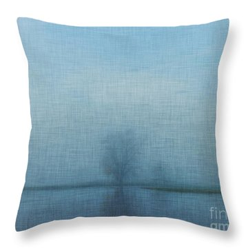 Tree Among Waters Throw Pillow by Inspired Arts