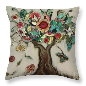 Tree And Plenty Throw Pillow