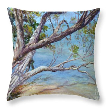 Tree At Islamorada Key Throw Pillow