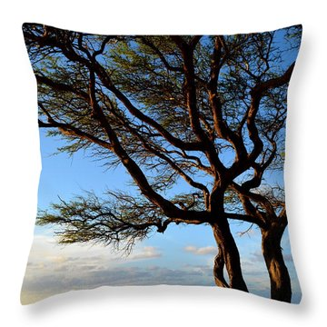 Tree At Lapakahi State Historical Park Throw Pillow