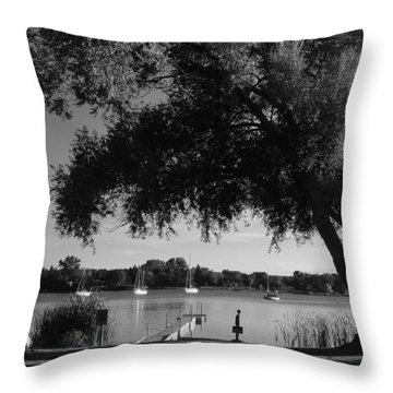 Tree At The Water Throw Pillow