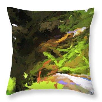 Tree Avenue Throw Pillow
