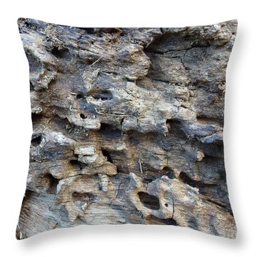 Throw Pillow featuring the photograph Tree Bark 1 by Jean Bernard Roussilhe