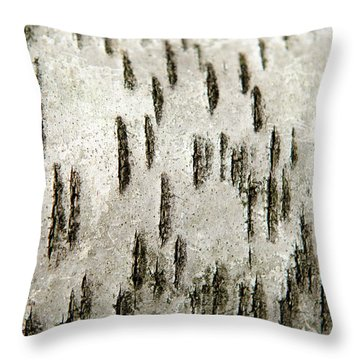 Tree Bark Abstract Throw Pillow by Christina Rollo