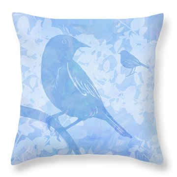 Tree Birds I Throw Pillow