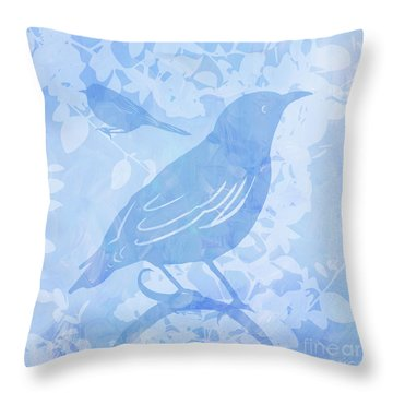 Tree Birds II Throw Pillow