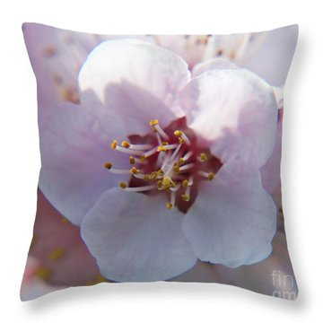 Throw Pillow featuring the photograph Tree Blossoms by Elvira Ladocki