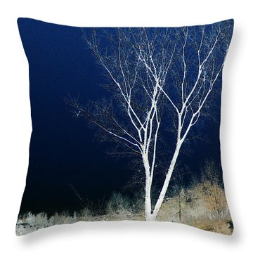 Throw Pillow featuring the photograph Tree By Stream by Stuart Turnbull