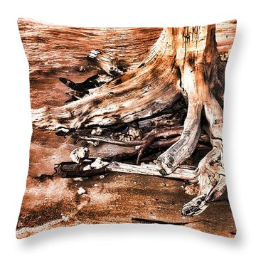 Tree By The Ocean 1 Throw Pillow