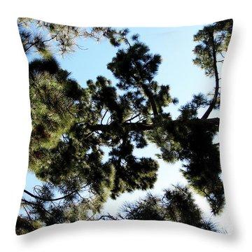 Tree Canopy Throw Pillow by Karen Sydney
