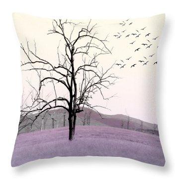 Tree Change Throw Pillow