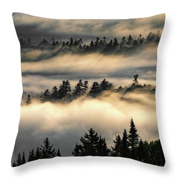 Trees In The Clouds Throw Pillow