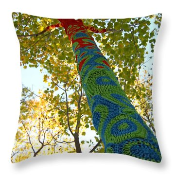 Tree Crochet Throw Pillow