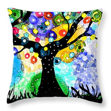 Tree Dance Throw Pillow by Patricia Arroyo