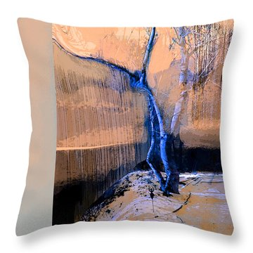 Tree Dancing On The Edge Throw Pillow