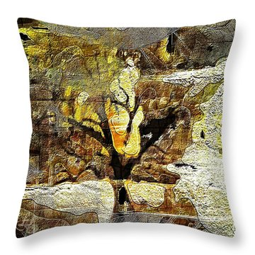 Tree Deconstructed 3 Throw Pillow