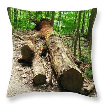 Tree Down Throw Pillow