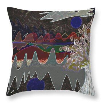 Tree Energy Throw Pillow by Ann Calvo