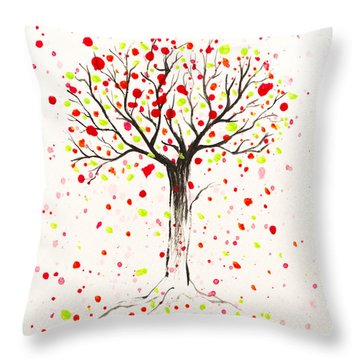 Tree Explosion Throw Pillow