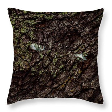 Tree Eyes Throw Pillow