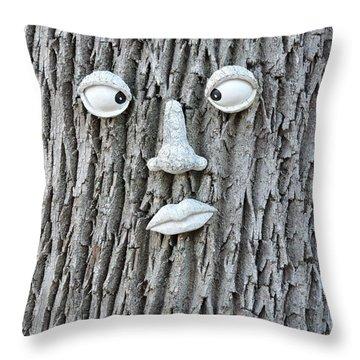 Tree Face Throw Pillow