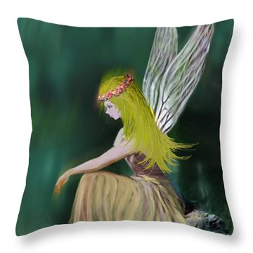 Tree Fairy Throw Pillow