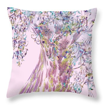 Tree Fancy Throw Pillow by Katy Breen