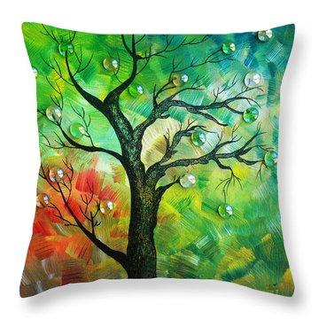 Tree Fantasy Throw Pillow by Ramneek Narang