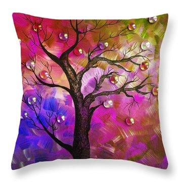 Tree Fantasy2 Throw Pillow by Ramneek Narang