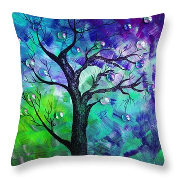 Tree Fantasy3 Throw Pillow by Ramneek Narang