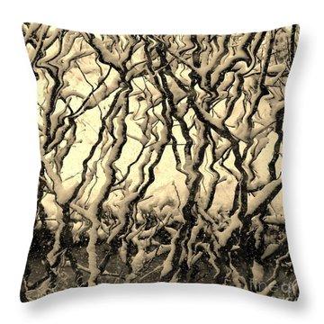 Tree Frenzy Throw Pillow