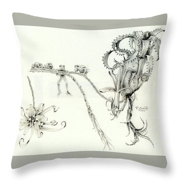 Tree Frog Hangout Throw Pillow