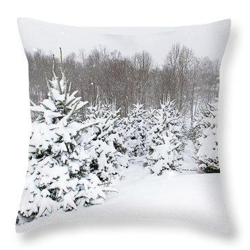 Fraser Snow Throw Pillow