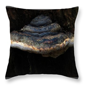 Throw Pillow featuring the photograph Tree Fungus by Tikvah's Hope