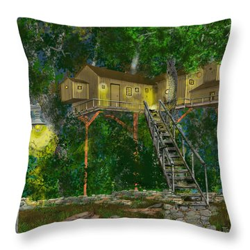 Tree House #10 Throw Pillow