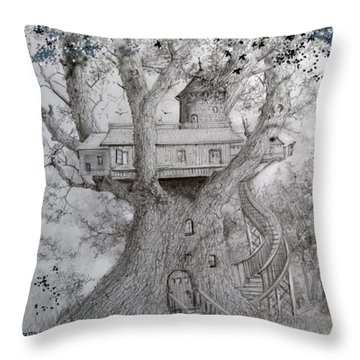 Tree House #2 Throw Pillow