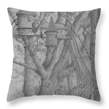 Tree House #3 Throw Pillow
