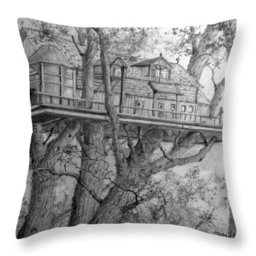 Tree House #4 Throw Pillow